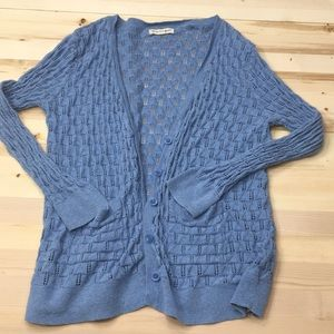 Tucker + Tate blue knit cardigan size 7/8